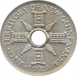 Монета > 1пени, 1929 - Нова Гвинея  - obverse
