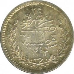 Монета > 20пара, 1876 - Османська імперія  (В'язь праворуч від тугри) - reverse
