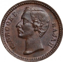 Moneta > ¼cent, 1870-1896 - Sarawak  - obverse