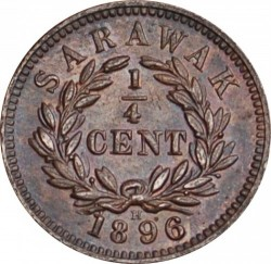 Moneta > ¼cent, 1870-1896 - Sarawak  - reverse