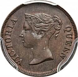 Moneta > ¼cent, 1862 - Insediamenti dello Stretto  - obverse