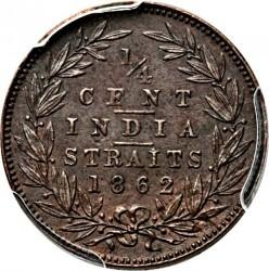 Moneta > ¼cent, 1862 - Insediamenti dello Stretto  - reverse