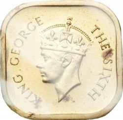 Coin > 5cents, 1951 - Ceylon  - obverse