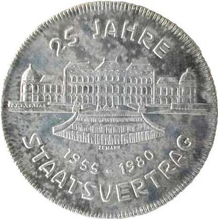 500 Schilling 1980 Staatsvertrag österreich Münzen Wert Ucoinnet