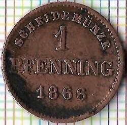 Кованица > 1фенинг, 1858-1871 - Bavaria  - reverse