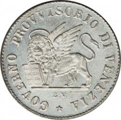 Moeda > 15centésimos, 1848 - Veneza  - obverse