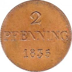 Monedă > 2pfenigi, 1830-1835 - Bavaria  - reverse