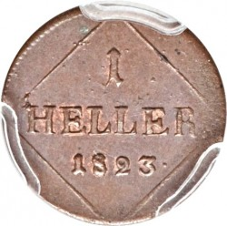 Кованица > 1хелер, 1806-1829 - Bavaria  - reverse