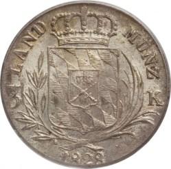 Кованица > 3крајцера, 1827-1830 - Bavaria  - reverse
