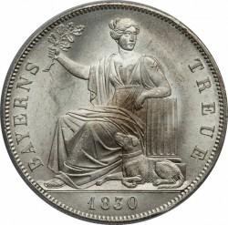 硬币 > 1塔勒, 1830 - 巴伐利亚  (Loyalty of Bavarians to Royal Family) - reverse