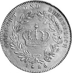 Кованица > 1kronenthaler, 1826-1829 - Bavaria  - reverse