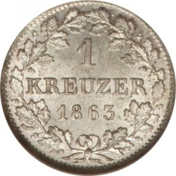 Munt > 1kreuzer, 1858-1864 - Beieren  - reverse