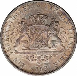 Munt > 1vereinsthaler, 1864-1866 - Bavaria  - reverse