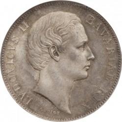 Munt > 1thaler, 1865-1871 - Bavaria  - obverse