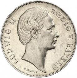 Monedă > 1gulden, 1864-1866 - Bavaria  - obverse