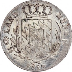 Munt > 6kreuzer, 1827-1829 - Bavaria  - reverse
