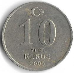 Münze > 10NeueKuruş, 2005-2008 - Türkei  - reverse