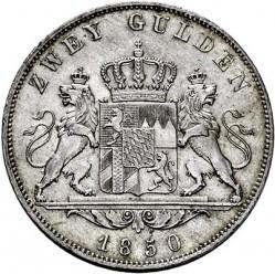 Monedă > 2guldeni, 1848-1856 - Bavaria  - reverse