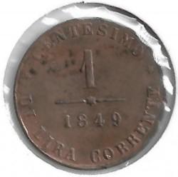 Moeda > 1centésimo, 1849 - Veneza  - obverse