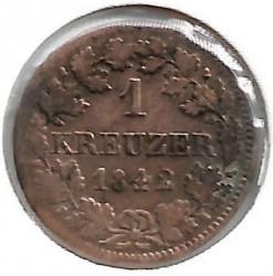 Кованица > 1крајцер, 1839-1856 - Bavaria  - reverse