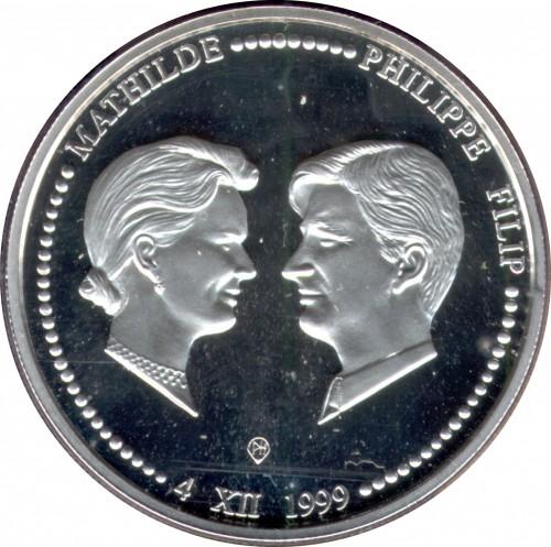 250 Franken 1999 Prince Philip Princess Mathilde Belgien