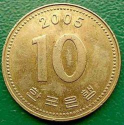 Монета > 10вон, 1983-2006 - Південна Корея  - obverse