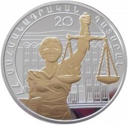 Монета > 1000драмов, 2015 - Армения  (20 лет Конституции) - reverse