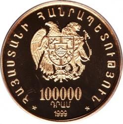 Moneda > 100000dram, 1999 - Armenia  (Descenso de Noé del Ararat) - obverse