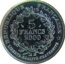 მონეტა > 5ფრანკი, 2000 - საფრანგეთი  (2000th Anniversary - French Coinage, Paris Stater) - obverse