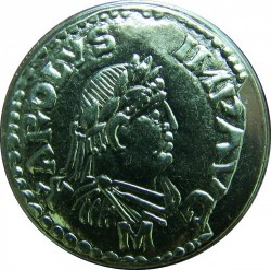 Moneda > 5francs, 2000 - França  (2000è aniversari - Monedes franceses, Denari de Carlemany) - obverse