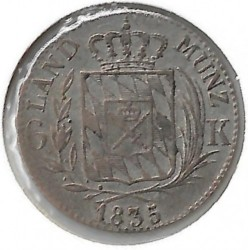 Кованица > 6крајцера, 1830-1835 - Bavaria  - reverse
