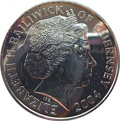 Moneda > 5libras, 2004 - Guernesey  (Steam Locomotives - LNER Class A4 4468 Mallard) - obverse