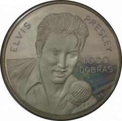 Moneda > 1000dobras, 1993 - Santo Tomé y Príncipe  (Elvis Presley) - reverse