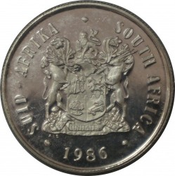 Coin > 1 rand, 1986 - South Africa  (100th Anniversary - Johannesburg) - obverse