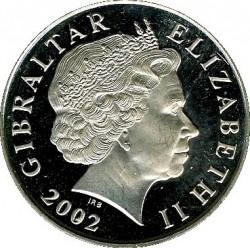 Moneta > 5sterline, 2002 - Gibilterra  (50° anniversario - Ascesa della regina Elisabetta II ) - obverse
