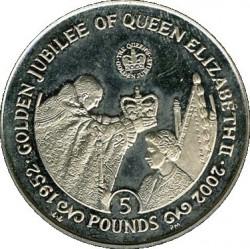 Moneta > 5sterline, 2002 - Gibilterra  (50° anniversario - Ascesa della regina Elisabetta II ) - reverse