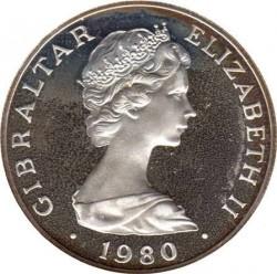 Moneta > 1corona, 1980 - Gibilterra  (175th Anniversary - Death of Horatio Nelson) - obverse