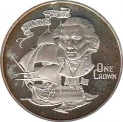 Moneta > 1corona, 1980 - Gibilterra  (175th Anniversary - Death of Horatio Nelson) - reverse