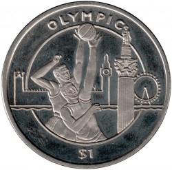 Moneda > 1dólar, 2010 - Sierra Leona  (XXX Juegos olímpicos de verano, Londres 2012) - reverse