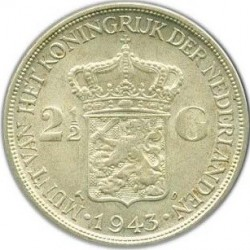 Moneta > 2½fiorini, 1943 - Indie Olandesi Orientali  - reverse