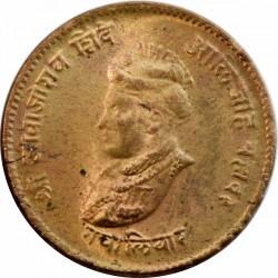 Moneda > ½anna, 1942 - Gwalior  - obverse