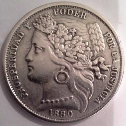 Moeda > 1peseta, 1880 - Peru  - obverse