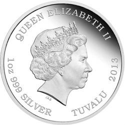 Moneta > 1dollaro, 2013 - Tuvalu  (Creature mitiche - Fenice) - obverse