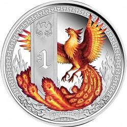 Moneta > 1dollaro, 2013 - Tuvalu  (Creature mitiche - Fenice) - reverse