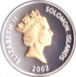 Moneta > 5dollari, 2002 - Salomone (Isole)  (50° anniversario - Ascesa della regina Elisabetta II ) - obverse