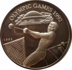 Pièce > 10tala, 1992 - Samoa  (XXVes Jeux Olympiques d'été, Barcelone 1992) - obverse