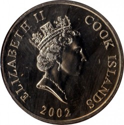 Mynt > 50 cents, 2002 - Cookøyene  (50th Anniversary - Accession of Queen Elizabeth II) - obverse