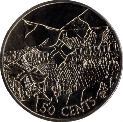 Mynt > 50 cents, 2002 - Cookøyene  (50th Anniversary - Accession of Queen Elizabeth II) - reverse