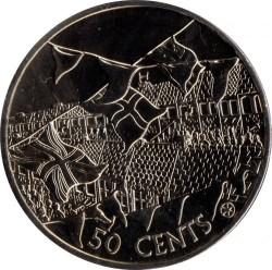 錢幣 > 50分, 2002 - 庫克群島  (50th Anniversary - Accession of Queen Elizabeth II) - reverse