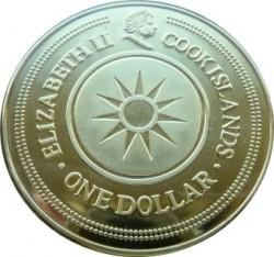 Moneta > 1dolar, 2003 - Wyspy Cooka  (Znaki zodiaku - Skorpion ) - obverse